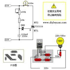 TIC226 SCR schémy stmievania okruhov