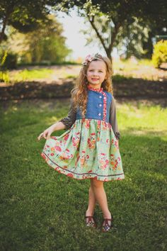 Olivia loves this dress! Autumn Bouquet dress by Olive Mae Clothing