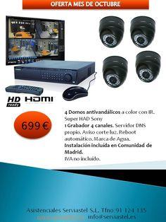 Oferta cámaras y grabador alta calidad. Instalación incluída en Comunidad de Madrid
