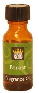 Forest Scented Oil From Incense King - 1/2 Ounce Bottle by Incense King Scented Oil. $2.95. 15ml bottle of high quality, but affordable, scented oil, which is approximately 1/2 ounce. Take a walk in the forest and enjoy this woodsy blend of pine and cedarwood.This fragrance oil is for use in oil diffusers, to refresh potpourri, or to sprinkle on incense charcoal. It is not to be used on the skin or consumed. Incense King oil is made using fine quality aromatic oils that resu...