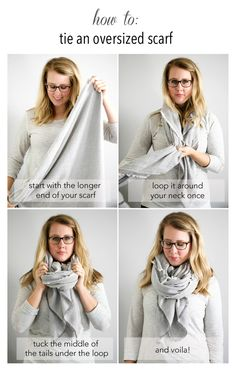 How to wear a blanket scarf shawl tie scarves 67 Ideas How To Wear Cardigan, How To Wear A Blanket Scarf, Ways To Wear A Scarf, How To Wear Scarves, Ways To Tie Scarves, Scarf Knots, Sneakers Street Style, Oversized Scarf, Neck Scarves