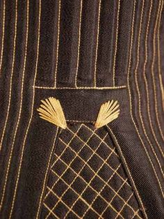 Victorian Corset 1875 flossing detail