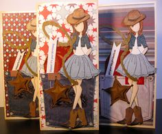 Making paper dolls with Julie Nutting stamps