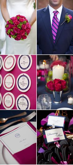 COLOR SCHEME. Pink-and-Navy-Weddings-2
