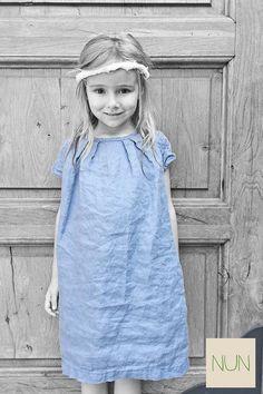 Dress Sofia  NUN kids 100%made in Italy Organic linen