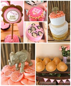Pink + Gold Glam Safari themed birthday party via Kara's Party Ideas! The Place for All Things Party! KarasPartyIdeas.com #goldglamsafariparty (2)