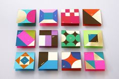 _thankyou Hong Kong-based design studio Blow created these vibrant thank you cards by using silkscreen and gold-stamping on Astrobrights Paper. Graphic Pattern, Geometric Pattern Design, Geometric Designs, Geometric Shapes, Mises En Page Design Graphique, Illustration Design Graphique, Thank You Card Design, Thank You Cards, Pattern Texture