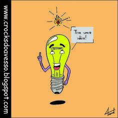 T11 - Olha as ideia!?!?! http://crocksdoavesso.blogspot.com.br/ #tirinha #comics #comicbook #quadrinhos #desenho #drawing #HQ