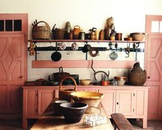 this kitchen is pretty in pink
