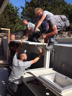 Installing the WWOO outdoor kitchen Outdoor Cooking, Countertops, Outdoor Living, Garden Ideas, Kitchens, Planters, Container, Relax, Backyard