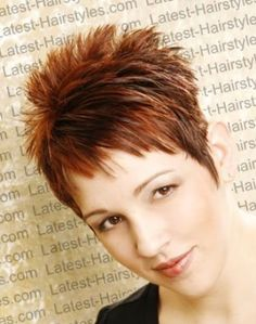 spiked hairstyles for women | short-spiky-hairstyle-with-short-fringe