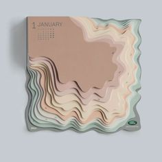 Loving this 3D topographic calendar by @zeyneporbay for @landrover ✖️The secret to great print design is all about the details. Click the link in our profile to learn more about how to find and specify the paper of your choosing for your next print project.