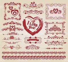Decorative heart for your design. https://creativemarket.com/kio https://ru.fotolia.com/p/201081749 http://ru.depositphotos.com/portfolio-1265408.html