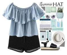 SummerHat by cynthia6 on Polyvore featuring polyvore, fashion, style, Chicnova Fashion, Topshop, Ancient Greek Sandals, Calypso Private Label, Gasoline Glamour, philosophy, Estée Lauder, CLEAN, Aveda, Chen Chen & Kai Williams, Kelly Wearstler, Surya, Polaroid, clothing and summerhat