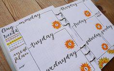 #bulletjournal #bujo #weeklyspread #planner