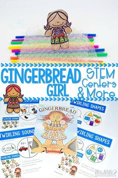 The Gingerbread Girl activities for kindergarten and first grade.The Gingerbread Girl: Stem Project Build a boat or raft!  Also includes 2 math centers, 2 literacy centers, 4 worksheets for math and ELA, plus a directed drawing.  3 other sets of book activities in this resource.