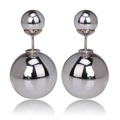 Gum Tee Mise en Dior Style Tribal Earrings - Silver Plated