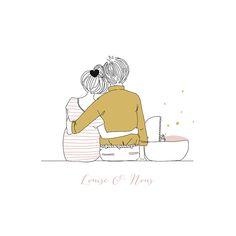 Faire-part de naissance Lovely family (4 pages) fille