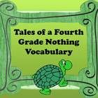 Free! Tales of a Fourth Grade Nothing is one of the best books to read as a class, and is sure to be a favorite with your students. This vocabulary slide...
