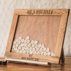 Wooden Dropbox Wedding Guestbook (Landscape)