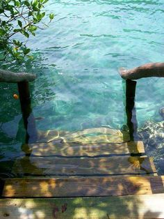 Just imagine waking up in a good morning, walking outside and down these stairs and just dip your toes in the relaxing water. ♥