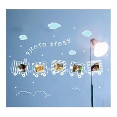 Wall Sticker Photo Frames Art Decal Wall Decor,train,white and acid blue by CreativeCraft. $12.99. Waterproof sunscreen anti-corrosion,the decal wall stickers decorate and protect your wall.. Decorate Baby and Kids Nursery,bedroom, sitting room, corner, school classroom wall, art museum, office, dorm, or store. Wall stickers can tear, not the color traces left on the wall or offset. The surface of the paint, tiles, glass,  wardrobe is available.,but repeated paste may ...