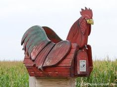 Rooster mailbox.....darling!