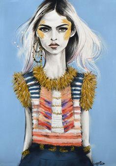 Illustration.Files: Chanel Pre-Fall 2014 by Pippa McManus
