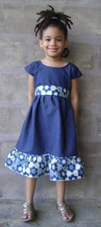 Rasta Wife Line: How to Sew a Simple Princess Dress with Frill and Sash