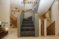 staircases on displan in uk showroom