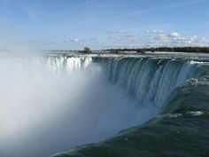 Niagara Falls Canada - just as the water slips over the edge.