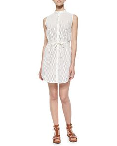Frida Mini-Eyelet Cotton Shirtdress by Marissa Webb at Neiman Marcus.