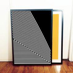 Via Kreative House   Optical Triangle Poster