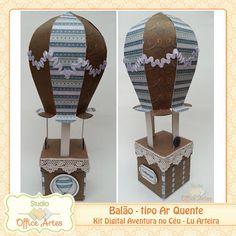 Balão de Ar Quente - Projeto Híbrido Skateboard, Birthday, Party, Ideas, Hot Air Balloon, Ideas Party, Adventure, Skateboarding, Birthdays
