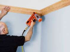 Crown molding is not easy to install, but the right trim can transform a room. Here are illustrated step-by-step guidelines that prove that a skillful layout and smart shortcuts can change any appr. Cut Crown Molding, Diy Molding, Molding Ideas, Fixer Upper, Layout Design, Crown Molding Installation, Molding Ceiling, Easy Woodworking Projects, Home Repair