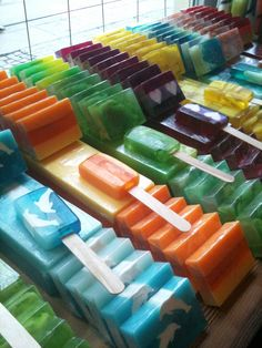 colourful soap bars