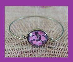 Bracelet cabochon liberty penny rose : Bracelet par crocmyys