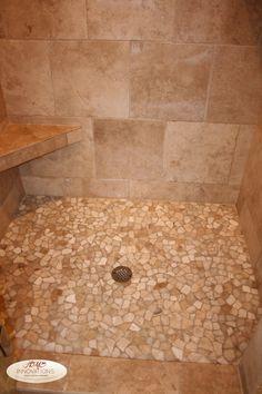 Sandstone Mosaic tile shower pan