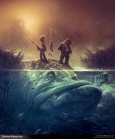 Fish Art by Tommy Kinnerup | #illustration #fantasy #fishing < found on www.behance.net pinned by www.BlickeDeeler.de | Follow us on www.facebook.com/BlickeDeeler