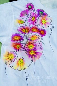 Sharpie Tie-Dye T-Shirts! 1. 100% Cotton T 2. Assortment of Sharpies 3. 70% solution of Rubbing Alcohol 4. Droppers from a pharmacy