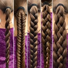Braids tutorial ladder long hair Ideas for 2019 Cornrows Natural Hair, Magic Hair, Natural Hair Styles, Long Hair Styles, Pinterest Hair, Little Girl Hairstyles, Grunge Hair, Hair Videos, Hair Designs