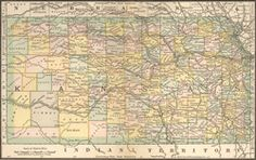 """Map of Kansas, 1884 :: Learn more about #MCHSites """"Trails-n-Tales"""" @ http://www.pinterest.com/FFNHA/"""