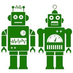 muursticker robot
