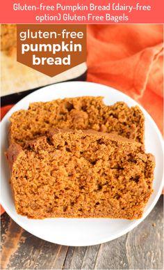 Gluten-free Pumpkin Bread (dairy-free option) Gluten Free Bagels #Gluten-free #Pumpkin #Bread #(dairy-free #option) #Gluten #Free #Bagels Gluten Free Pumpkin Bread, Gluten Free Bagels, Gluten Free Sweets, Gluten Free Baking, Pumpkin Waffles, Pumpkin Puree, Cinnamon Bread, Cinnamon Chips, Dairy Free Options