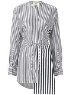 Ports 1961 chemise longue rayée asymétrique