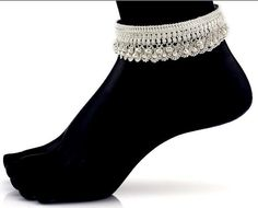 Look at our Anklets - Women typically from superb assortment at Jewelry. Payal Designs Silver, Silver Anklets Designs, Silver Payal, Anklet Designs, Gold Earrings Designs, Gold Jewellery Design, Necklace Designs, Ankle Jewelry, Ankle Bracelets