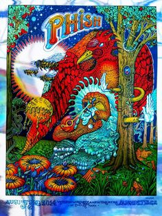 A very psychedelic Phish poster by David Welker for Alpharetta