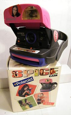"""Polaroid 600 Instant Film Camera- Spice ""Girls"" Cam Multi Colored with Original Box. With Built in Flash and Camera Strap"". . Uses 600 Film.  This is in Excellent Condition - This is used and shows a very mild amount of usage wear, With NO Damage. Tested and worked great including The Flash.  Does not come with Film or anything not in the photo.  The Box is a little bit rough with some surface wear, edge wear, but still intact. ."