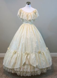 Ivory southern belle dress, new at www.civilwarballgowns.com