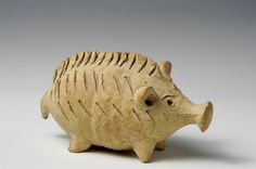 Zoomorphic rattle  clay  Cypriot  Cypro-Archaic II period  600-480 BC